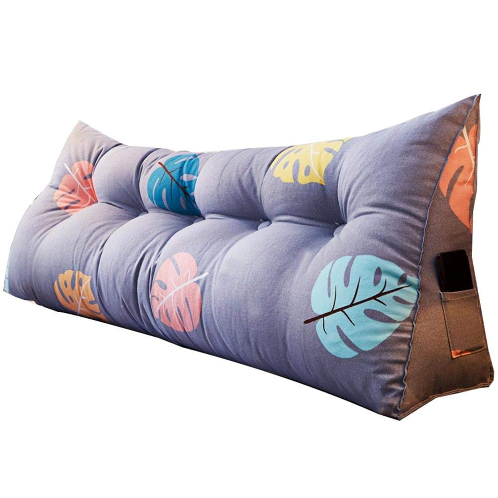 Yanan Bedside Back Cushions Long Soft Triangle Backrest Waist Positioning Support Pillow Office Reading Lumbar Pillow 7 Styles Available Color : A, Size : 60/×21/×50cm