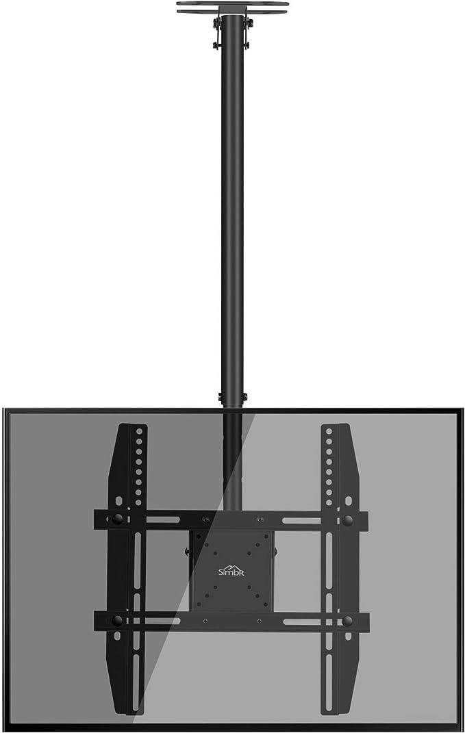 SIMBR Soporte TV de Techo con Altura Ajustable Soporte para Televisión con Pantalla LED / LCD / Plasma de 22-55 Carga Máxima 50kg VESA Máxima 400×400 Inclinable y Giratorio: Amazon.es: Electrónica