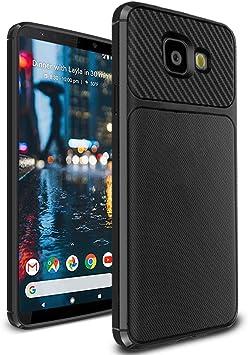 Ferilinso Funda Samsung Galaxy J4 Plus /J4+, Cubierta de diseño de Fibra de Carbono Delgado Delgado híbrido Defender Resistente a los arañazos Funda Protectora de Silicona antichoque (Negro): Amazon.es: Electrónica