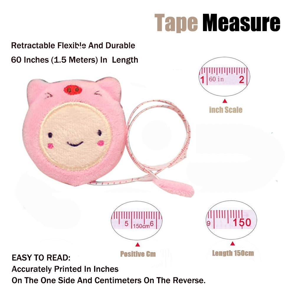 Retractable Tape Measure for Sewing Measuring Body 60-Inch 1.5 Meter 2pcs Soft Tape Measure