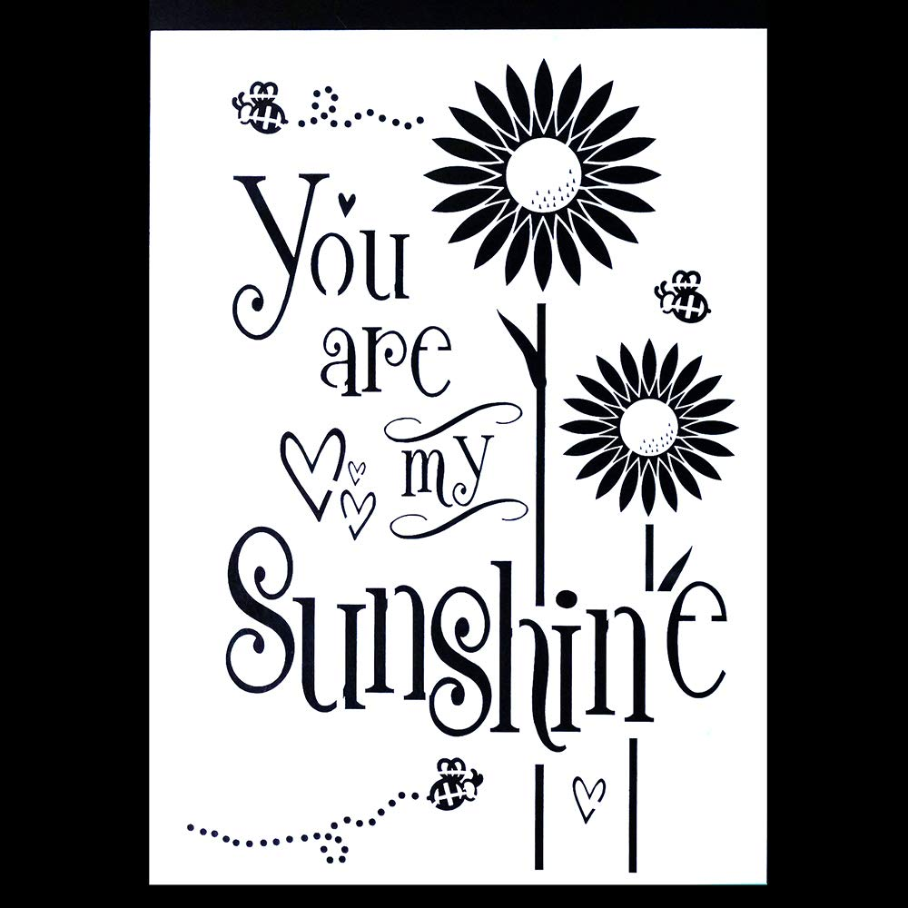 A2 Size DIY Decorative You are My Sunshine Stencil Template for Scrapbooking Painting on Wall Furniture Crafts