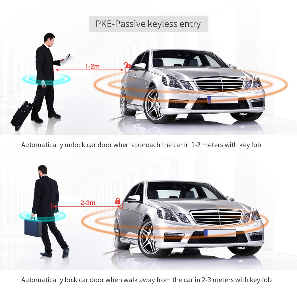 Easyguard Ec003 Smart Key Pke Passive Keyless Entry Car 99 Chevy Prizm Engine Diagram Alarm System Start Button Remote Universal Version Electronics