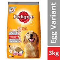 Pedigree Adult Dry Dog Food (High Protein Variant) – Chicken, Egg & Rice, 3 Kg Pack