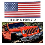 jeep wrangler blue grill inserts - Seven Sparta Front Grill Insert for Jeep JL Flag Mesh Grill Insert, Blue and Red