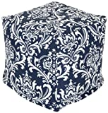 Majestic Home Goods Navy and White French Quarter Cube, Small