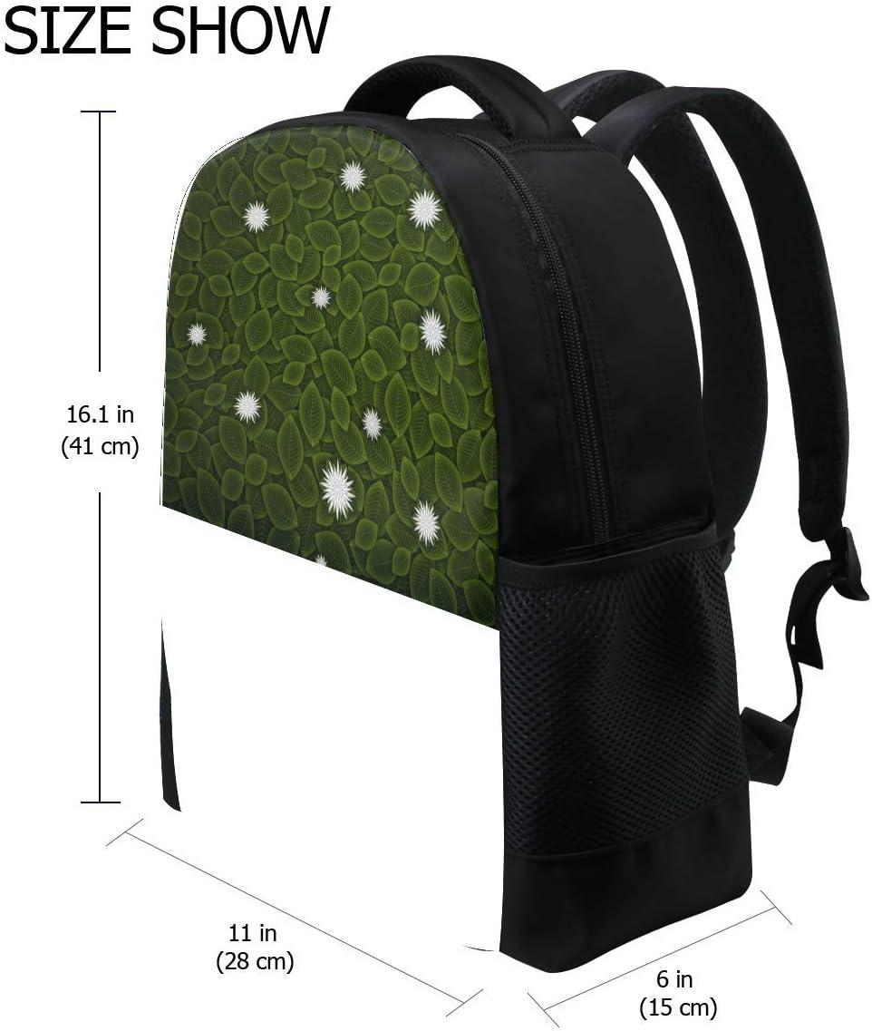 Minimalism Vector Leaves Flowers Bookbag School Backpack Luggage Travel Sport Bag