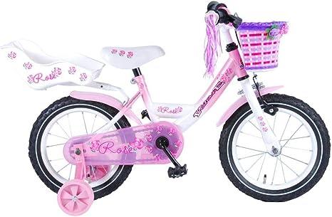 Bicicleta Niña Chica Rose 14 Pulgadas Freno Delantero al Manillar ...