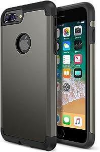 Trianium iPhone 8 Plus Case, Protanium Apple iPhone 8Plus Case (2017) with Heavy Duty Protection/Shock Absorption/Dual Layer TPU + Rigid Back Armor/Anti-Scratch/Reinforced Corner -Gunmetal