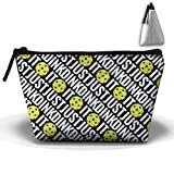 Pickleball Sport Trapezoid Pouch Makeup Cosmetic Bag Accessory Case Scratch Resistant For Couple