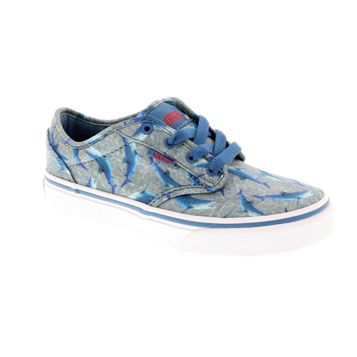 Vans - Zapatillas de Baloncesto de Lona para niña, Color Azul ...