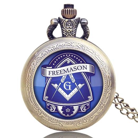 Amazon com: Men's Pocket Watch, Bronze Vintage Masonic