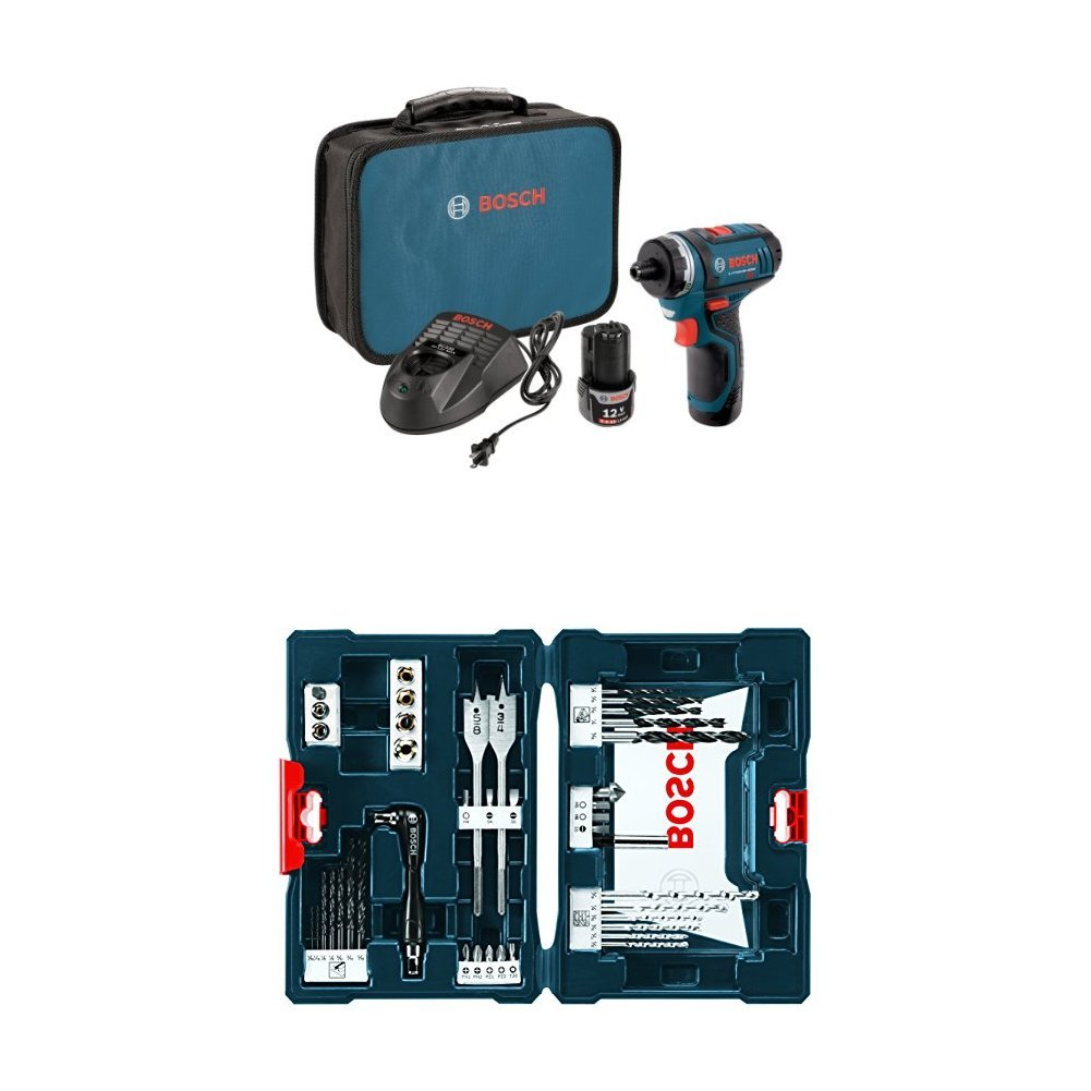 Bosch PS21-2A 12-Volt Max Lithium-Ion 2-Speed Pocket Driver Kit with ...