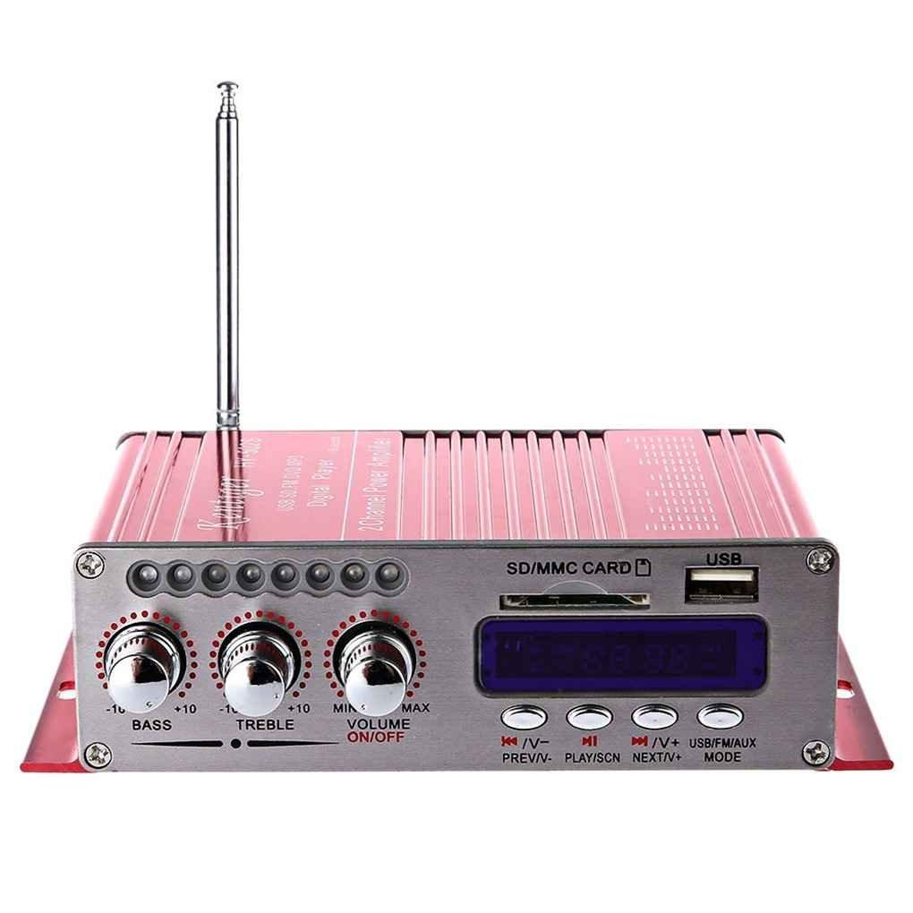Esté reo Kentiger HY-502S 2CH altavoz Hi-Fi Bluetooth Super Bass USB Power amplificador digital/SD Card radio FM del jugador Regard Regard Natral AmzRegard4892