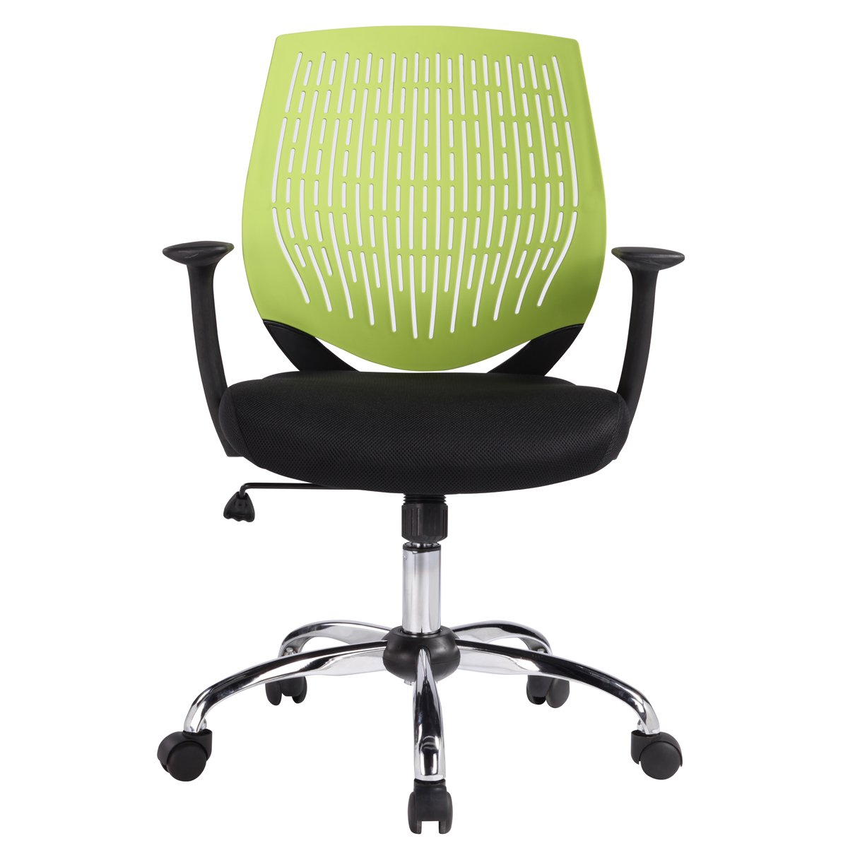 HollyHOME Ergonomic Mesh Task Chair, Mid Back Office Swivel Computer Desk Chair with Super Soft Back Support, Green