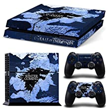 Ps4 Playstation 4 Console Skin Decal Sticker Game Of Thrones + 2 Controller Skins Set