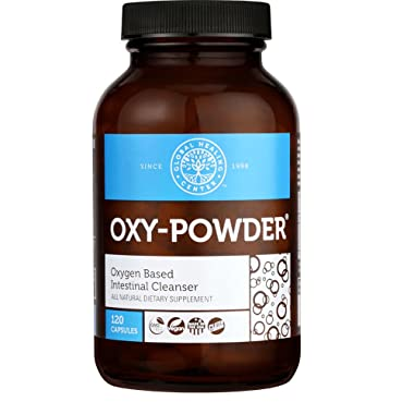 Global Healing Center Oxy-Powder Colon Cleanse Detox - Oxygen Based Safe and Natural Intestinal Cleanser - Relief from Occasional Constipation (120 Capsules)