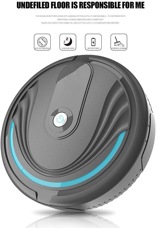 HONGLONG Aspirateur Robot, USB Charge aspirateur Paresseux Robot Intelligent, sans Fil Balayage, Les Poils d\'animaux, Tapis, sols durs,Blanc White