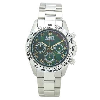 381ff258e1 [エルジン]ELGIN 腕時計 200M防水 ブラックシェル クロノグラフ 日本製ムーブ FK1406S-