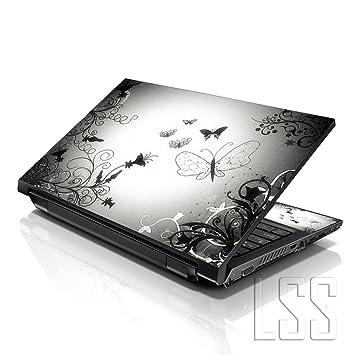 Pegatina artística con diseño de mariposas LSS para ordenador portátil