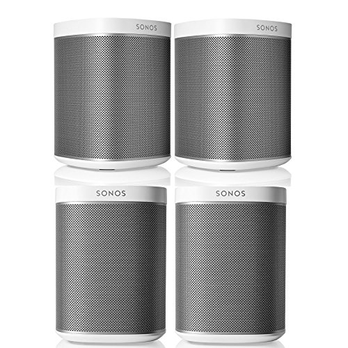 Sonos PLAY:1 Multi-Room Digital Music System Bundle (4 – PLAY:1 Speakers) – White