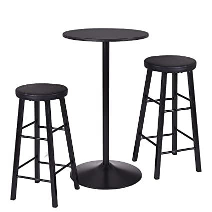 White Bear u0026 Brown Rabbit Round Bar table Set With 2 Stools Bistro Pub Kitchen Dining  sc 1 st  Amazon.com & Amazon.com: White Bear u0026 Brown Rabbit Round Bar table Set With 2 ...