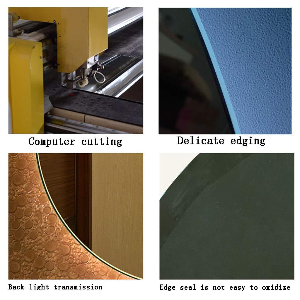 5 Dimensioni demister YiYi Bathroom mirror Specchio da Bagno Illuminato sensore Touch Rotondo Senza Cornice con Luce Bianca a LED//Luce Calda