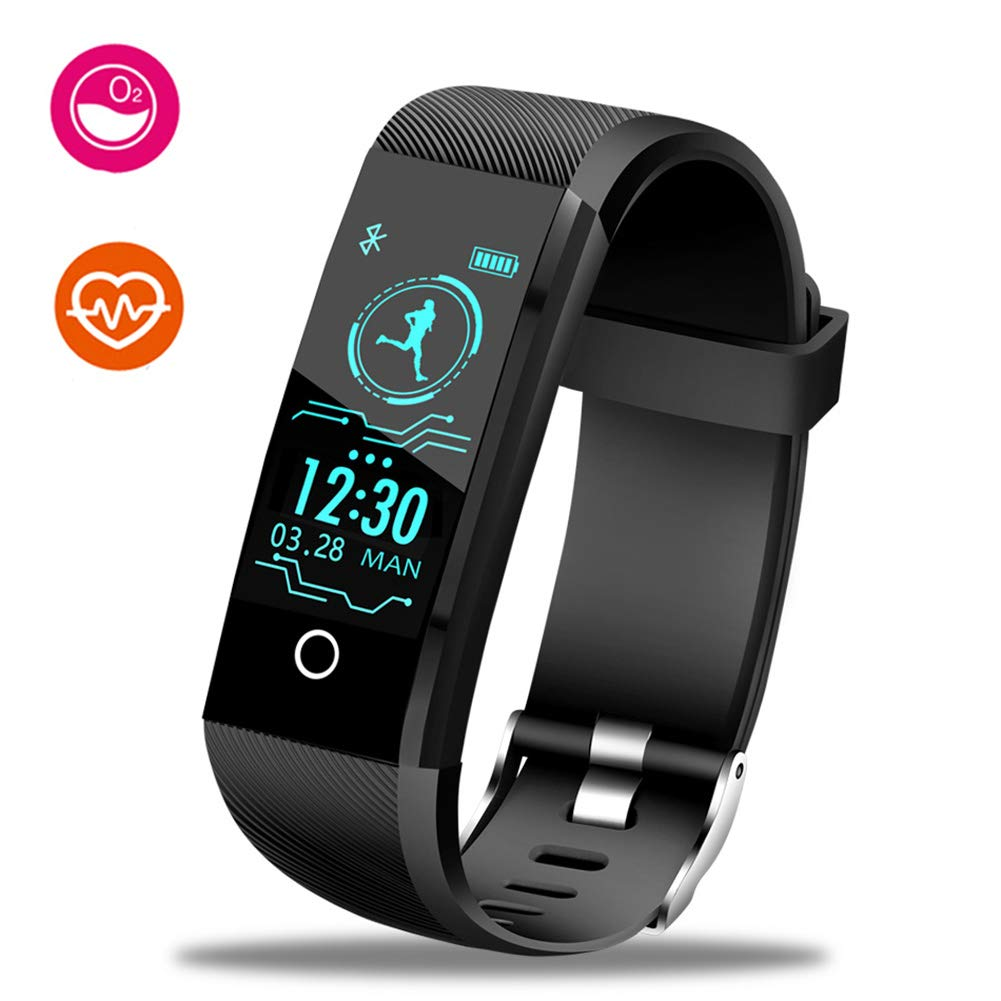LIGE Fitness Tracker HR, Activity Tracker Watch with Heart Rate Monitor, Color Screen IP67 Waterproof Pedometer Sleep Monitor Step Counter Smart Bracelet for Kids Women Men
