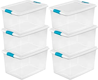 product image for 64 Quart Clear Storage Tote W/Lid, 23-3/4x16x13-1/2