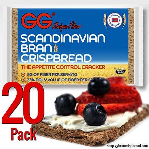 GG Bran Crispbread, 3.5-ounce (Pack of 20) by GG Scandinavian Bran Crispbread