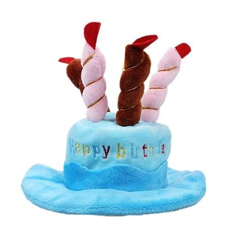 Thmyo Bonito Sombrero de cumpleaños para Mascota, Sombrero ...