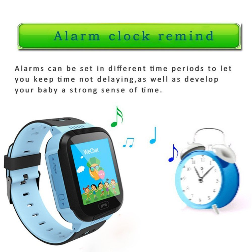 Smart Watch Niños 1.44 inch Touch Screen localizador niños con la SIM Calls SOS antipérdida Reloj Teléfono pulsera linterna eléctrica reloj niño ...