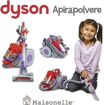 ODS-DC22 Maisonelle - Aspirador de Juguete Dyson DC22, Color Gris, Morado y Rojo, 20802: Amazon.es: Juguetes y juegos