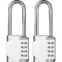 Lanboo Combinations cijferslot, set van 2 stuks, 4-cijferig anti-roest, weerbestendig hangslot, ideaal veiligheidsslot…