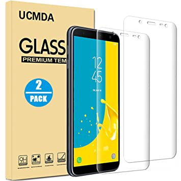best service 51b83 dfb28 UCMDA Samsung J6 Screen Protector, [2 Pack] Tempered Glass Screen Protector  [3D Full Coverage] Anti Scratch Resistant Glass Screen Protector Guard ...