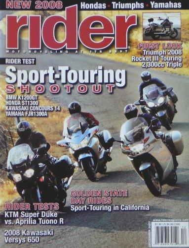 (Rider Magazine, December 2007 (Sport-Touring Shootout))