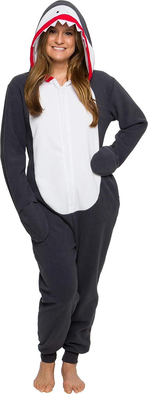 Silver Lilly Slim Shark Costume Adult One Piece Cosplay Animal Pajamas