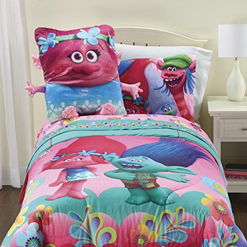 Trolls Twin Sized Kids Sheet SetWith Bonus Free E-book