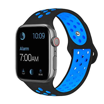 outlet online wide range the sale of shoes SMEECO Compatible with iWatch Band 38mm 40mm 42mm 44mm,Soft Breathable  Silicone Strap Replacement iWatch Bands for iWatch Series 4,Series 3,  Series 2, ...