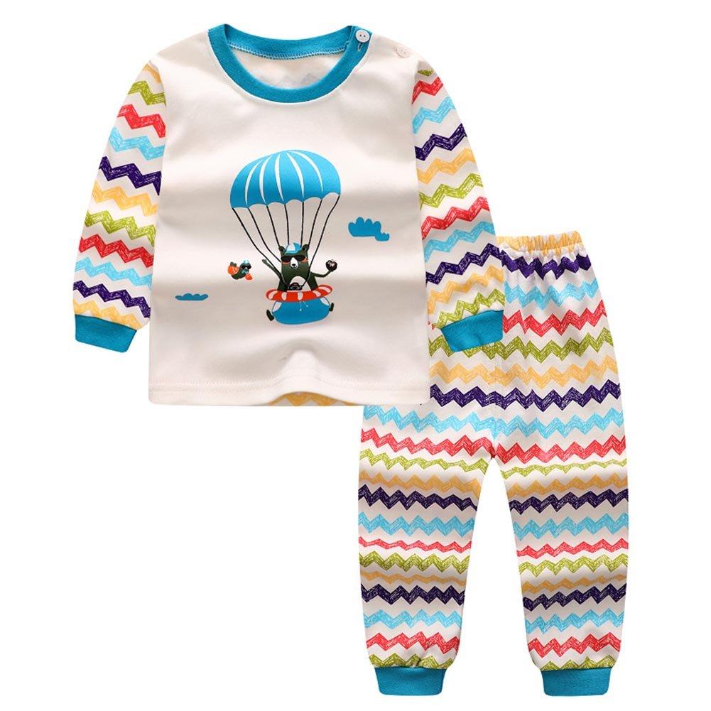 ESHOO Baby Boys Girls 2pcs Pyjama Sets Kids Long Sleeve T Shirt and Pants Sleepsuits