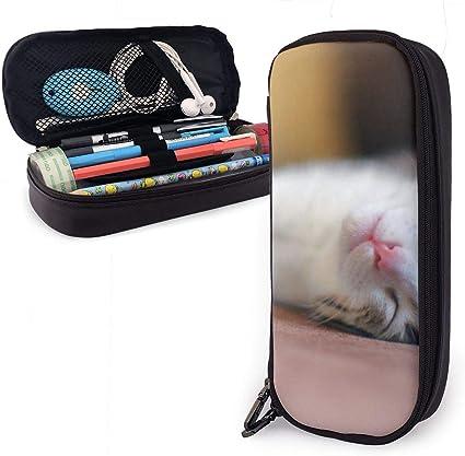 Estuche para lápices Kawaii para niños y niñas, con diseño de gato durmiendo, para estudiantes, universidad, material escolar y oficina: Amazon.es: Oficina y papelería