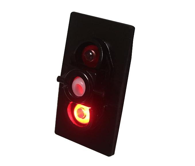 BANDC 12/V//24/V ACC Rocker Interruptor ON-OFF SPST 5/pines rojo LED para coche de grado marino barco Rv resistente al agua IP66