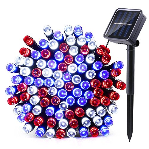 Red Solar Led String Lights - 1