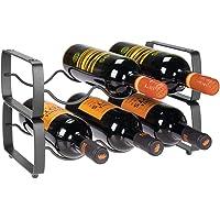 mDesign Juego de 2 botelleros apilables – Estante