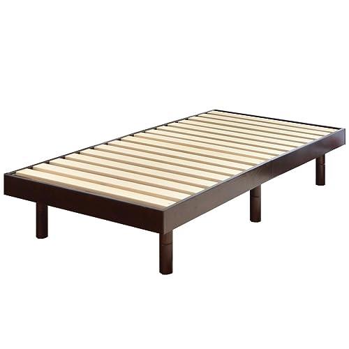 タンスのゲンすのこベッドシングルベッド天然木3段階高さ調節耐荷重:約200kgブラウン11719094BR