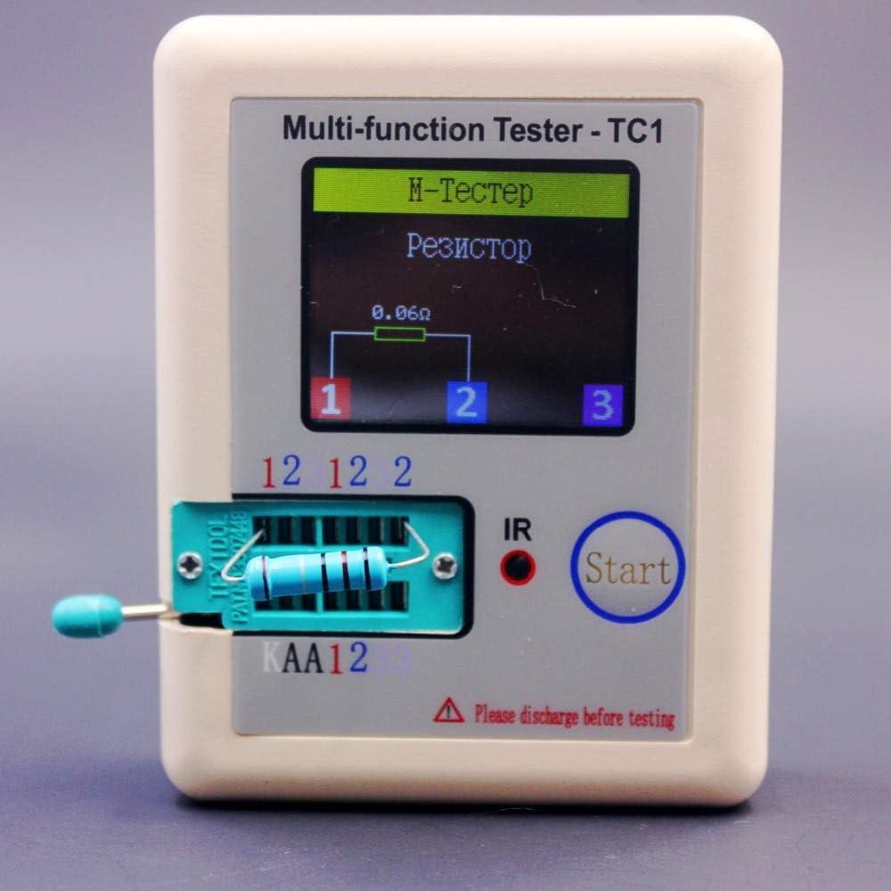 BELONG Russian multi-function TC1 Transistor Tester TFT Diode Triode Capacitance Meter LCR ESR NPN PNP MOSFET IR Tester