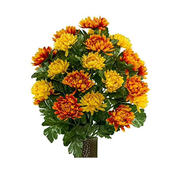 Rubys-Silk-Flowers-Orange-and-Yellow-Mums-featuring-the-Stay-In-The-Vase-DesignC-Flower-Holder-LG2026