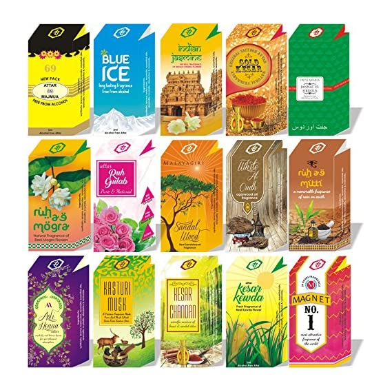 Parag fragrances Long Lasting Attar (4ml) - Set of 20