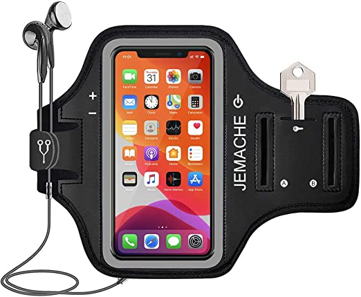 Amazon Com Iphone 12 12 Pro 11 Pro X Xs Armband Jemache Water Resistant Gym Workouts Running Arm Band Case For Iphone X Xs 11pro 5 8 Iphone 12 12pro 6 1 With Card Holder Black
