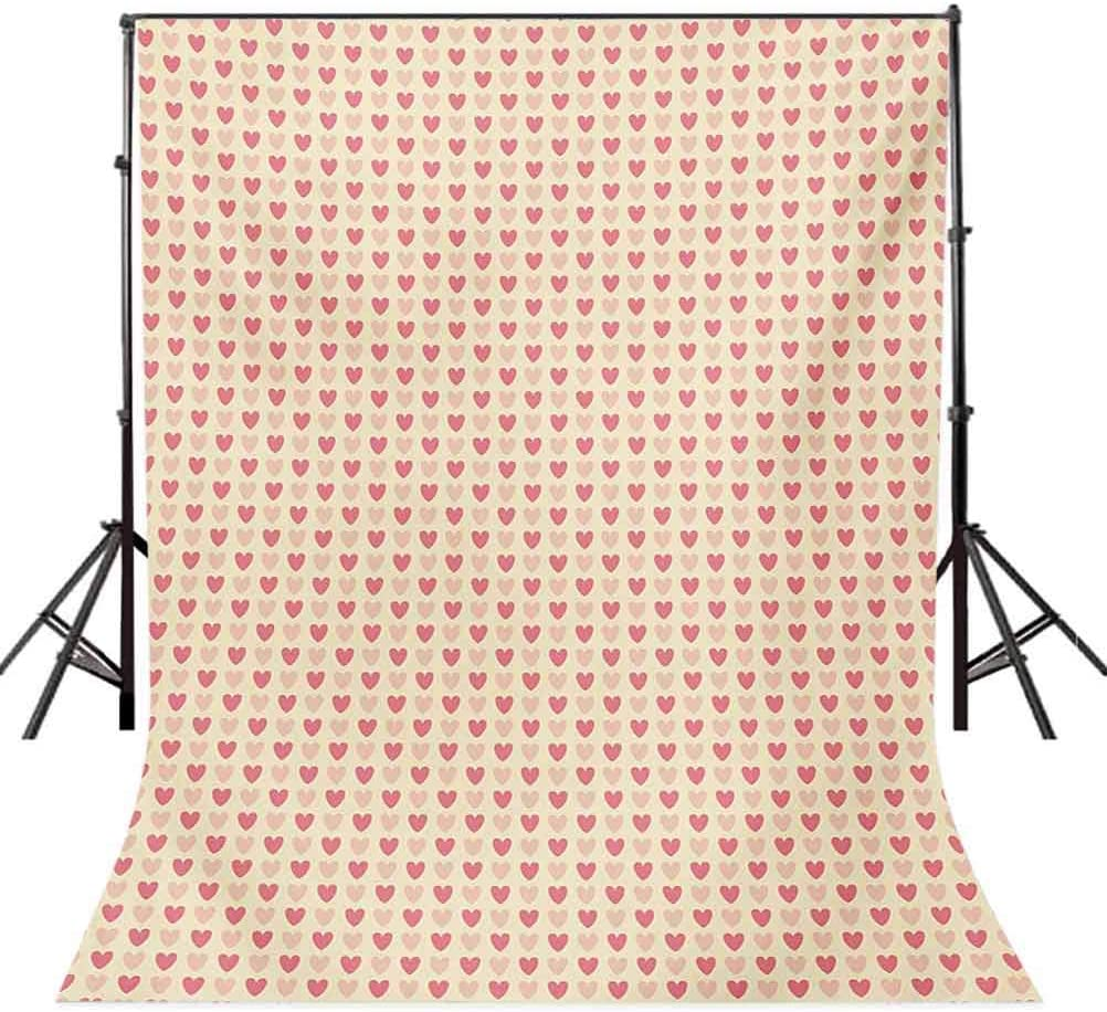 8x10 FT Backdrop Photographers,Brushstroke Style Striped Backdrop Funny Animals with Floral Patterns Background for Kid Baby Boy Girl Artistic Portrait Photo Shoot Studio Props Video Drape Vinyl