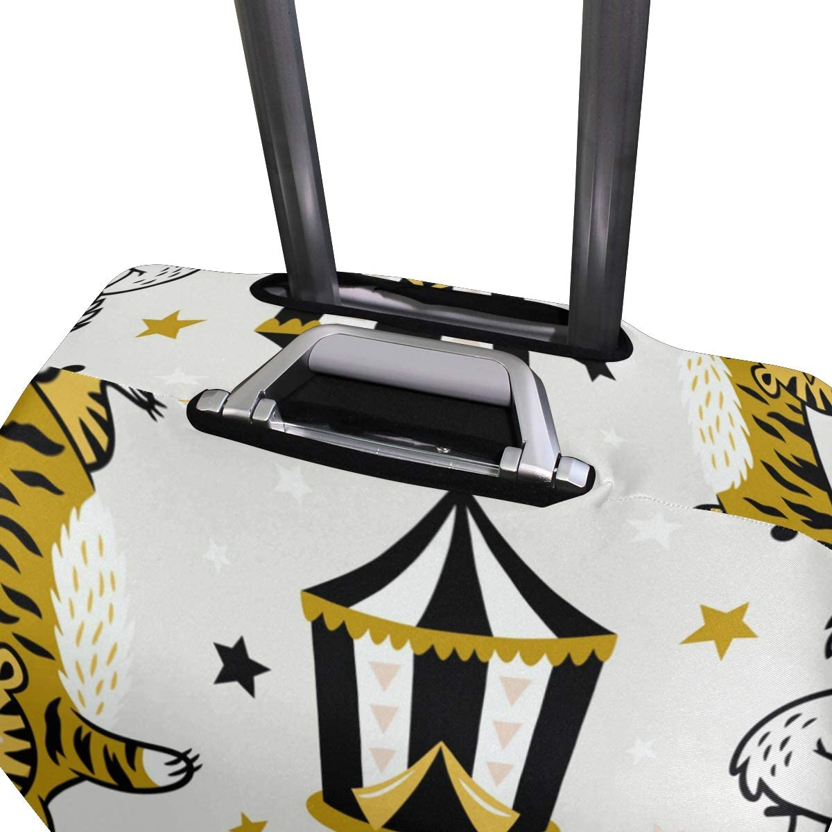 FOLPPLY Cartoon Circus Animal Lion Tiger Penguin Funny Luggage Cover Baggage Suitcase Travel Protector Fit for 18-32 Inch